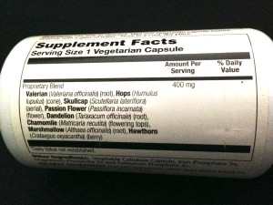 Solaray Sleep Blend SP-17 Label