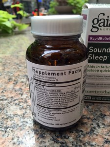 Sound Sleep By Gaia Herbs Label