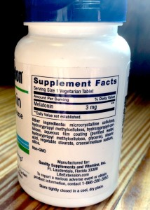 Timed Release Melatonin by Life Extension Label