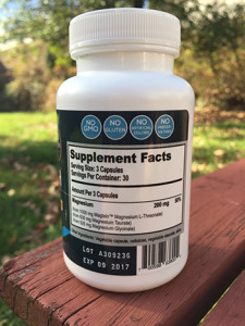 MagTech Sleep Supplement Label
