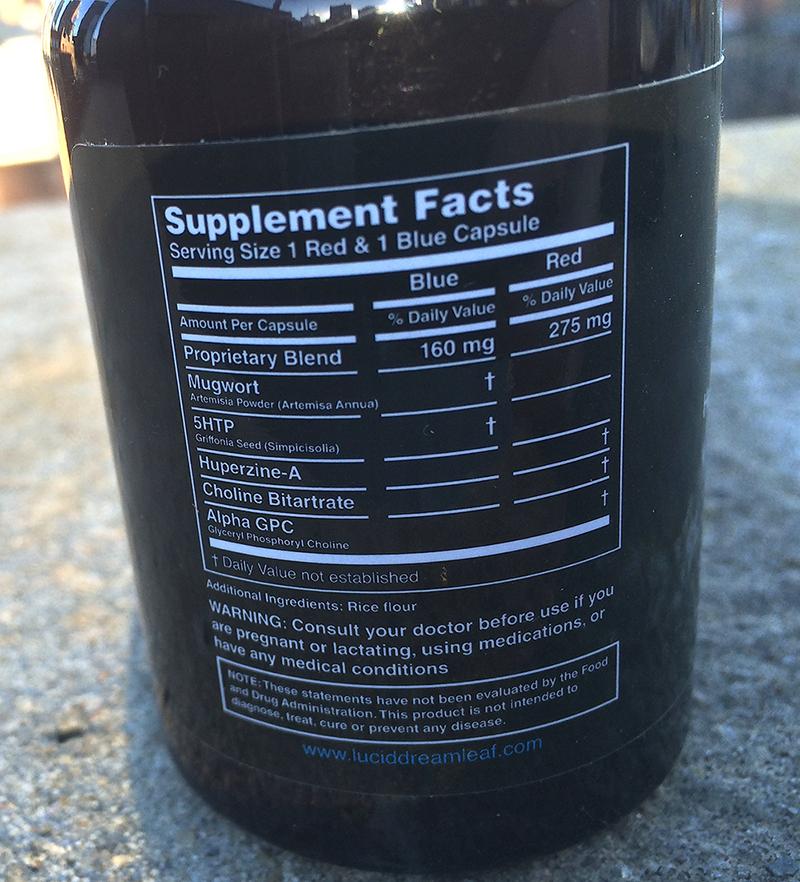 Dream Leaf Nutrition Label